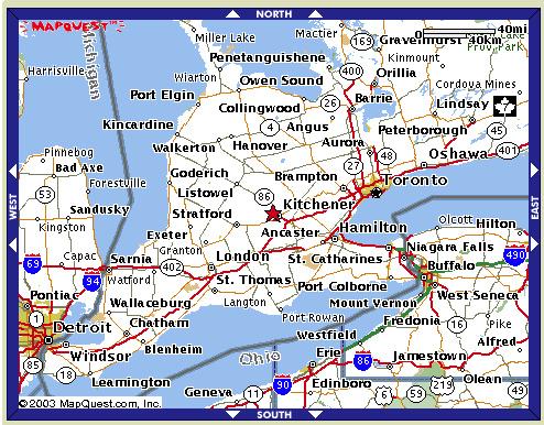 Map South West Ontario Canada Ontario Futsal Association   Maps   Southwestern Ontario